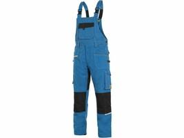Montérkové nohavice CXS STRETCH s náprsenkou skrátené (170 cm)