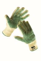 Neporezné rukavice CHIFFCHAFF kevlarové s PVC terčíkmi