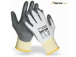 Neporezné rukavice Korus K30 máčané v polyuretáne