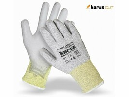 Neporezné rukavice Korus K35 máčané v polyuretáne