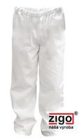 Nohavice dámske biele - celoguma