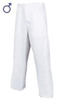Nohavice SANDER do pása pánske biele