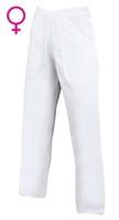 Nohavice SANDER Woman do pása dámske biele