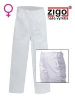 Nohavice ZIGO DANIELA dámske biele