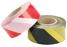 Páska výstražná červeno-biela 50m