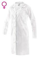 Plášť CXS EVA s dlhým rukávom dámsky biely