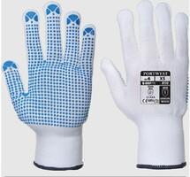 Pracovné rukavice A110 Polka Dot textilné s PVC terčíkmi