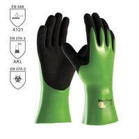 Pracovné rukavice ATG MaxiChem máčané v nitrilovej pene