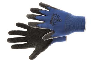Pracovné rukavice BEASTY BLUE máčané v latexe