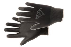 Pracovné rukavice BOUNCING BLACK máčané v polyuretáne