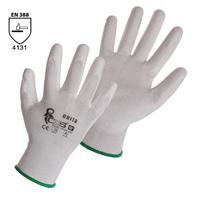 Pracovné rukavice BRITA biele máčané v polyuretáne