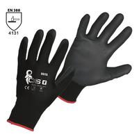 Pracovné rukavice BRITA BLACK máčané v polyuretáne