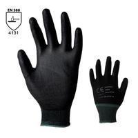Pracovné rukavice BUCK čierne máčané v polyuretáne
