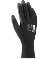 Pracovné rukavice BUCK čierne máčané v polyuretáne (s blistrom)