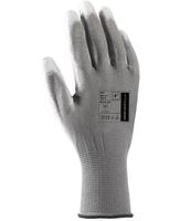 Pracovné rukavice BUCK sivé máčané v polyuretáne