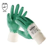 Pracovné rukavice COOT máčané v kaučuku