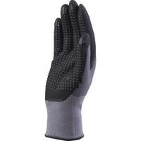 Pracovné rukavice DPVE727 máčané v nitrile s PVC terčíkmi