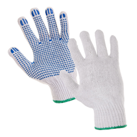 Pracovné rukavice FALO textilné s PVC terčíkmi