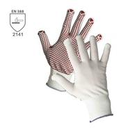 Pracovné rukavice GANNET  textilné povrstvené terčíkmi