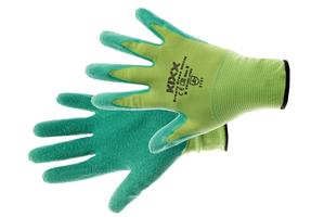 Pracovné rukavice GROOVY GREEN máčané v latexe