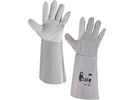 Pracovné rukavice HURI celokožené dlhé