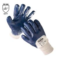 Pracovné rukavice KITTIWAKE máčané v nitrile