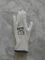 Pracovné rukavice KORUS biele máčané v polyuretáne