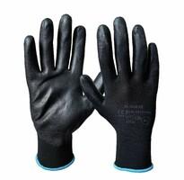 Pracovné rukavice M-GLOVE čierne máčané v polyuretáne