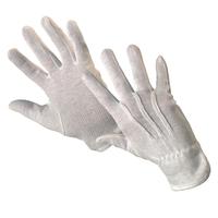 Pracovné rukavice MAWA textilné biele s PVC terčíkmi