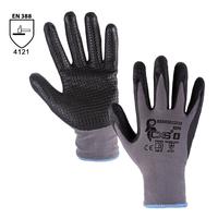 Pracovné rukavice NAPA máčané v nitrile s PVC terčíkmi