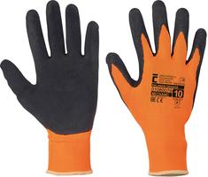 Pracovné rukavice PALAWAN ORANGE máčané v latexe