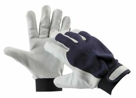 Pracovné rukavice PELICAN BLUE kombinované