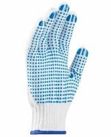 Pracovné rukavice PERRY textilné s PVC terčíkmi