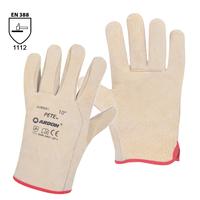Pracovné rukavice PETE celokožené