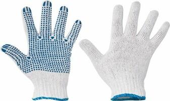 Pracovné rukavice PLOVER textilné s terčíkmi