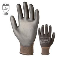 Pracovné rukavice PURE TOUCH BLACK máčané v polyuretáne