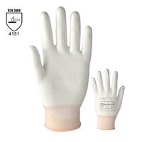 Pracovné rukavice PURE TOUCH WHITE máčané v polyuretáne