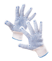 Pracovné rukavice QUAIL LIGHT HS-04-006 textilné s terčíkmi