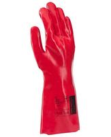 Pracovné rukavice RAY dĺžka 35cm máčané v PVC (s blistrom)