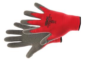 Pracovné rukavice ROCKING RED máčané v latexe