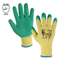 Pracovné rukavice ROXY máčané v zvlnenom latexe