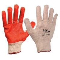 Pracovné rukavice SCOTER máčané v PVC červené