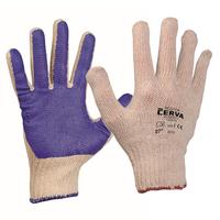 Pracovné rukavice SCOTER máčané v PVC modré