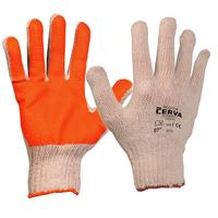 Pracovné rukavice SCOTER máčané v PVC oranžové