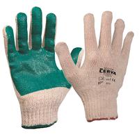 Pracovné rukavice SCOTER máčané v PVC zelené