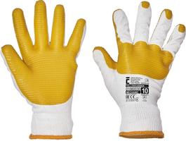Pracovné rukavice YELLOWHAMMER máčané v latexe