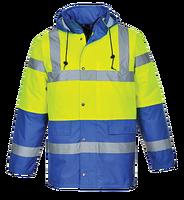 Bunda S466 300D Hi-Vis reflexná žlto-kr.modrá 2XL