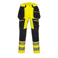 Reflexné montérkové nohavice DX442 HOLSTER Hi-Vis do pása