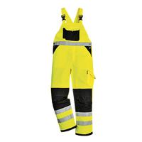 Reflexné monterkové nohavice KS62 XENON Hi-Vis s náprsenkou
