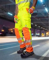 Reflexné montérkové nohavice SIGNAL do pása Hi-Vis